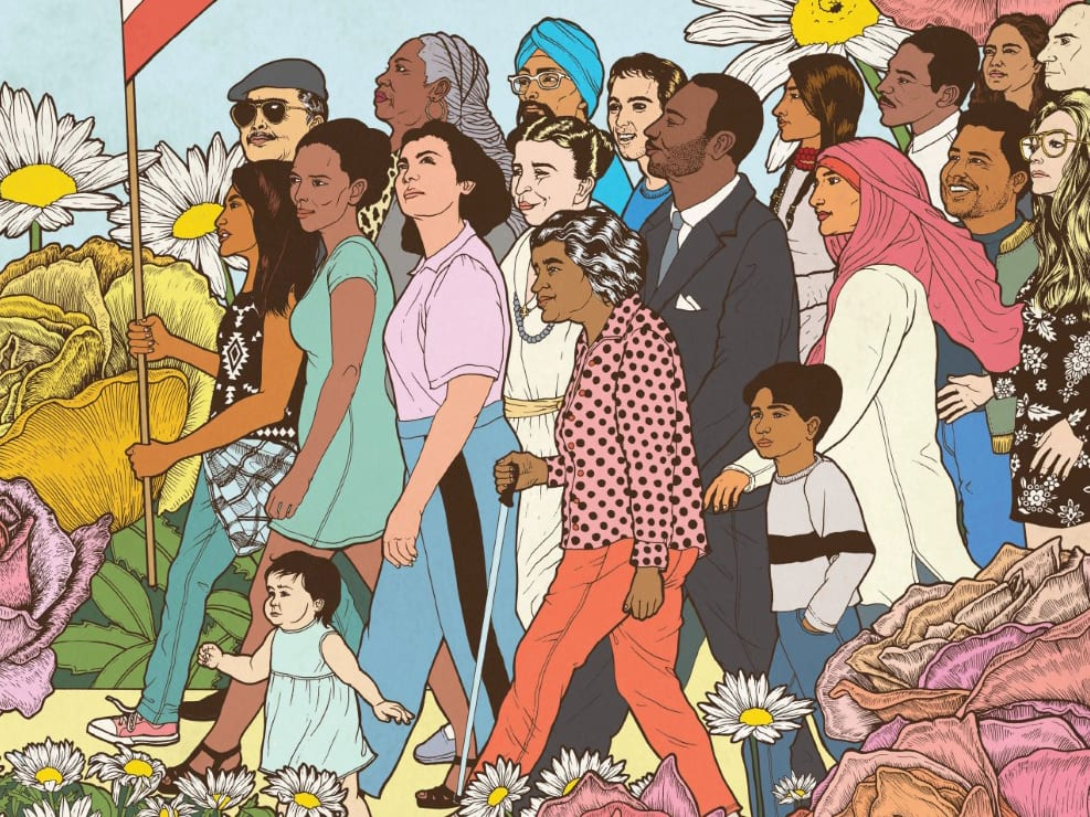 Cover art from PEAK Grantmaking Journal's Fall 2020 issue by Celeste Byers for amplifier.org.